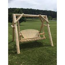 white cedar log swing u0026 frame