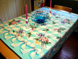 virginia retro mixing it up tiffany tablecloth easter decor and
