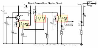 simple garage door closing circuit just using relays circuit diagram