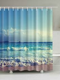 ocean print waterproof bath shower curtain colormix cm cm in