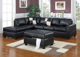 Black Sectional Sofas Sacramento Black Leather Sectional Sofa With Left Facing Chaise At