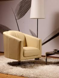 Swivel Sofas For Living Room Real Leather Chair Modern Leisure Chair With Top Italian Leather