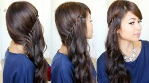 front view of side swept hairstyles side swept waterfall twist hairstyle feat nume curl jam youtube