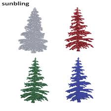 online shop christmas tree cutting dies stencils for painting diy