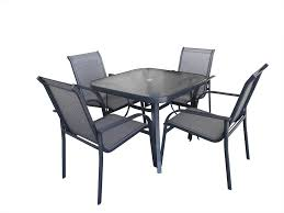 Glass Table Patio Set Modern Style Glass Top Patio Table And Chairs With Glass Topped