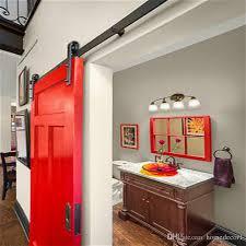 2017 5 8ft Classical Rustic Antique Black Wooden Sliding Barn Door