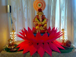 the 25 best ganpati decoration at home ideas on pinterest