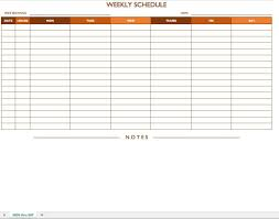 hourly schedule template and weekly schedule template word job