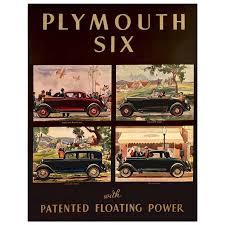 rare american art deco period car advertisement poster 1933 for