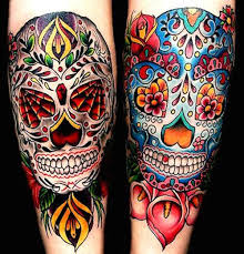 this is one unique sugar skull since it s got a band