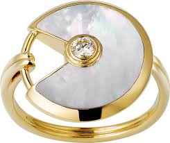 cartier rings jewelry images Crb4214700 amulette de cartier ring small model yellow gold png