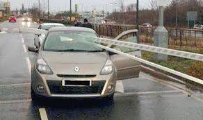Street Cars Ellesmere Port Miracle Escape For Driver And Passenger As Car Park Barrier