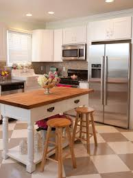 fantastic small kitchen design with vintage countertop and two