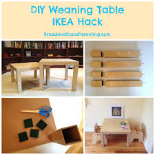 diy weaning table ikea hack bread u0026 roses natural parenting
