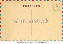 back vintage blank postcard space text stock photo 741271660