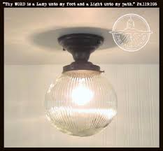 Large Semi Flush Ceiling Lights Large Globe Ceiling Light Semi Flush Mount Holophane The L Goods