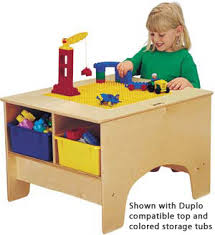 duplo preschool play table all building table with or duplo compatible top by jonti craft