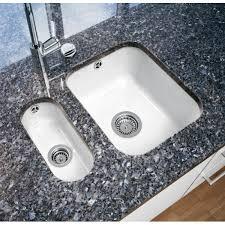undermount ceramic kitchen sink villeroy boch cisterna 19 half bowl white 355mm x 180mm undermount