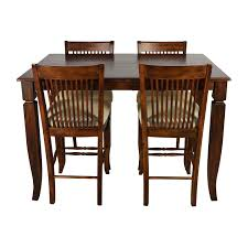 Extended Dining Room Tables by 75 Off Tall Extendable Dining Room Table Set Tables