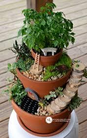 Garden Pots Ideas Flower Pot Miniature Gardens Bystephanielynn