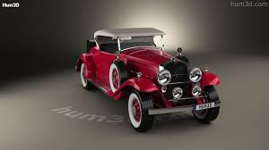 360 view of cadillac v 16 roadster 1930 3d model hum3d store