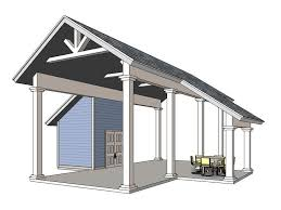 carport plans with storage 006g 0161 rv carport plan with storage and covered porch rv