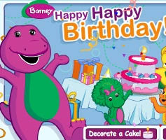 barney birthday cake games barney birthday cake game
