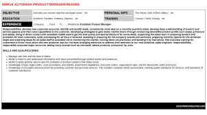 autodesk product manager cover letter u0026 resume