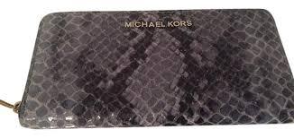 michael kors light blue wallet michael kors light blue denim bedford wallet tradesy