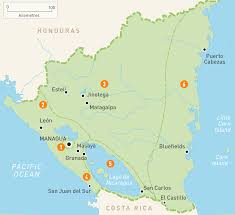 map of nicaragua nicaragua regions rough guides rough guides