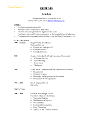 Resume Template For Hospitality Archaicfair Best Teacher Resume Example Livecareer Contemporary