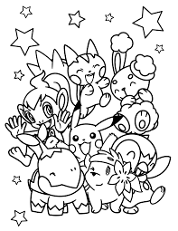 pokemon characters coloring pages free printable pokemon coloring