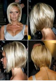 front and back pictures of short hairstyles for gray hair asymmetrical bob hairstyles back view