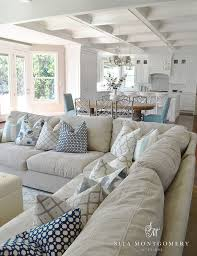Living Room Decor Ideas Coastal Beach Cottage Style White Grey - Cottage style family room