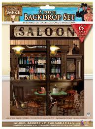halloween scene setters decorations 5ft cowboy scene setter saloon bar backdrop wild west western wall