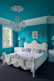 bright l for bedroom turquoise room with bright teal blue walls bedroom eclectic and