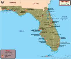 Florida Map Of Cities And Counties Airports In Florida Florida Airports Map