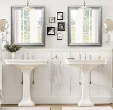 framed bathroom mirrors brushed nickel any color brushed nickel modern bathroom mirror framed