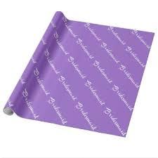 bridesmaid wrapping paper zazzle