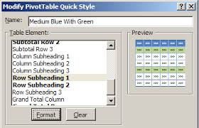 Change Table Style In Excel How To Format Excel Pivot Table