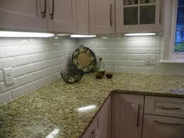 Simple Kitchen Backsplash Interior Glass Subway Tile Backsplash White Cabinets And Simple