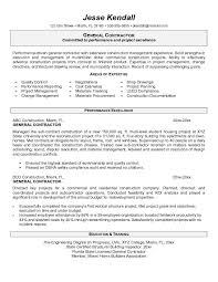 Construction Resume Examples by Amazing Design Ideas General Contractor Resume 15 Management