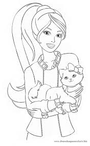 Barbie Halloween Coloring Pages 90 Best Malebog Barbie Images On Pinterest Barbie Coloring
