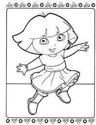 dora coloring pages the sun flower pages