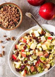 Salad Thanksgiving Pecan Blue Cheese And Apple Salad Just A Little Bit Of Bacon