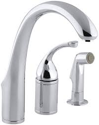 kohler gooseneck kitchen faucet kohler k 10430 cp forte single control remote valve kitchen sink