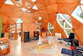 geodesic dome home interior paremoremo auckland dome home in is now up for sale daily mail