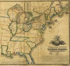 Usa Map 1860 by Telegraph Stations In The United States