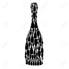 birthday martini white background illustration with bottles on white background royalty free