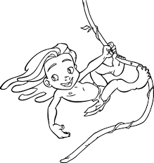 young tarzan coloring pages coloring